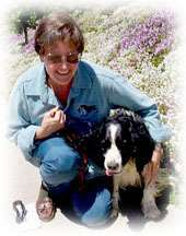 jan flagg with her springer, Joe